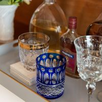 copo whisky azul