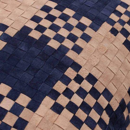 Almofada geométrica azul