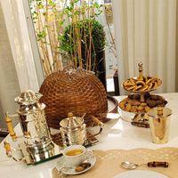 Porta requeijão prata com bambu