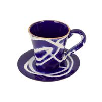 caneca de ceramica azul