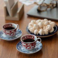 Xícara de café porcelana azul