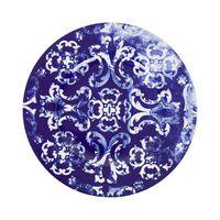 sousplat azul porcelana
