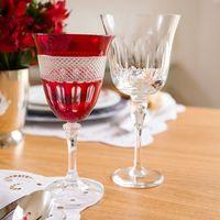 taça de vinho cristal vermelho