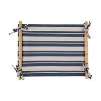 jogo americano azul com bambu