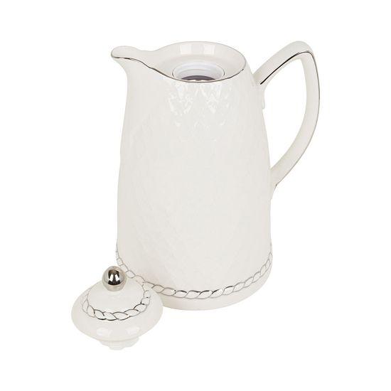 Garrafa termica porcelana branco