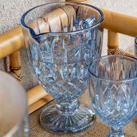 jarra de vidro azul