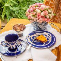 Prato cerâmica azul zanatta