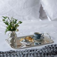 cesto de mesa prata