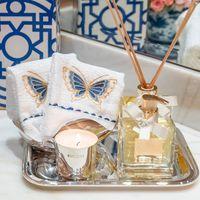 toalha lavabo bordada borboleta