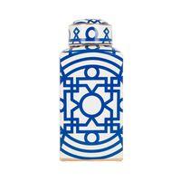 potiche ceramica azul marroquino