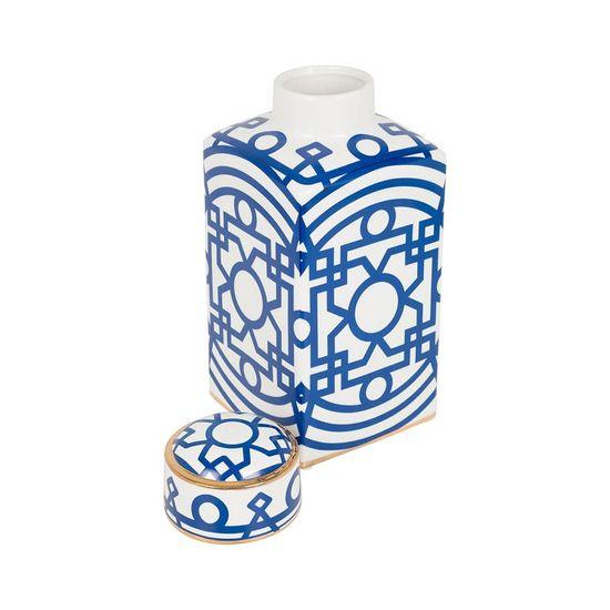 potiche ceramica azul
