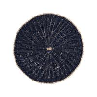 Lugar-Americano-Redondo-Rattan-Azul---38cm-|-Casadorada